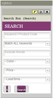 STORE - Search Box